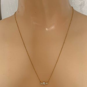 Kate Spade Gold Three Crystal Pendant Necklace